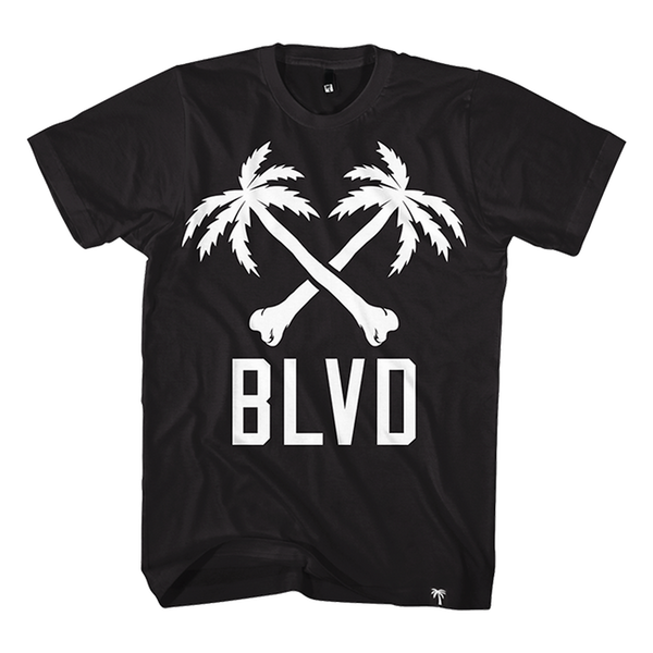 Blvd Supply Crossbones BLVD Tee - BLVD Supply inc