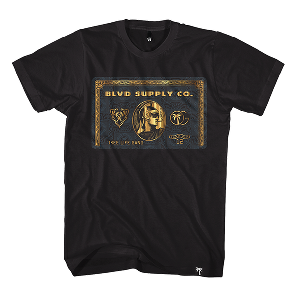 Blvd Supply Black Card Tee - BLVD Supply inc