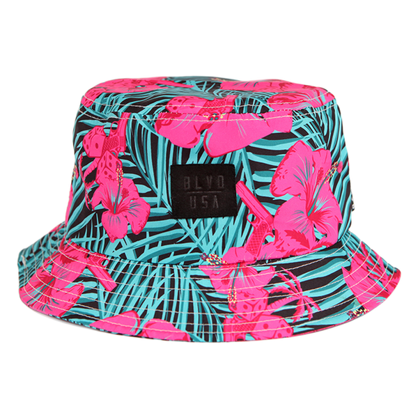 Blvd Supply South Beach Palms Bucket Hat - BLVD Supply inc