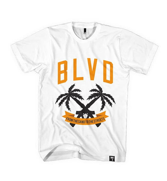 Blvd Supply 2 Palms Tee - BLVD Supply inc