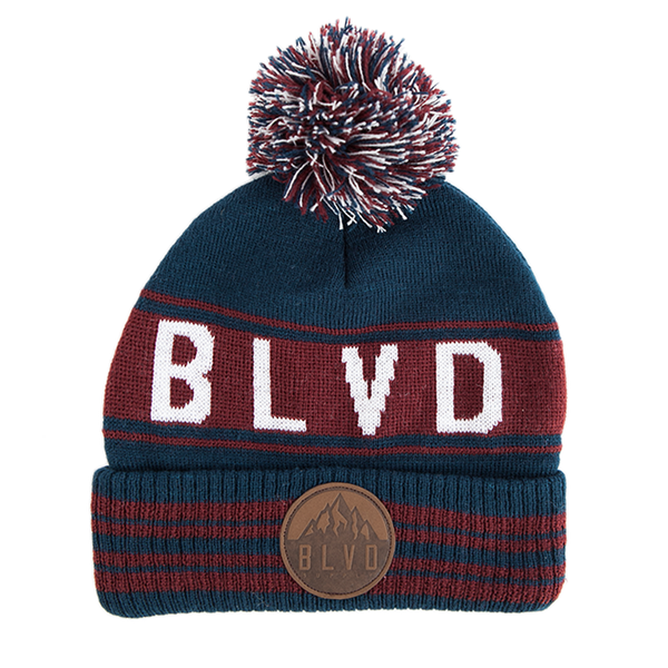 Mt. Stripes Beanie - BLVD Supply inc