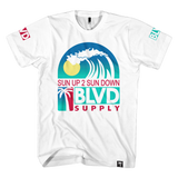 Blvd Supply Bball Wave Tee - BLVD Supply inc