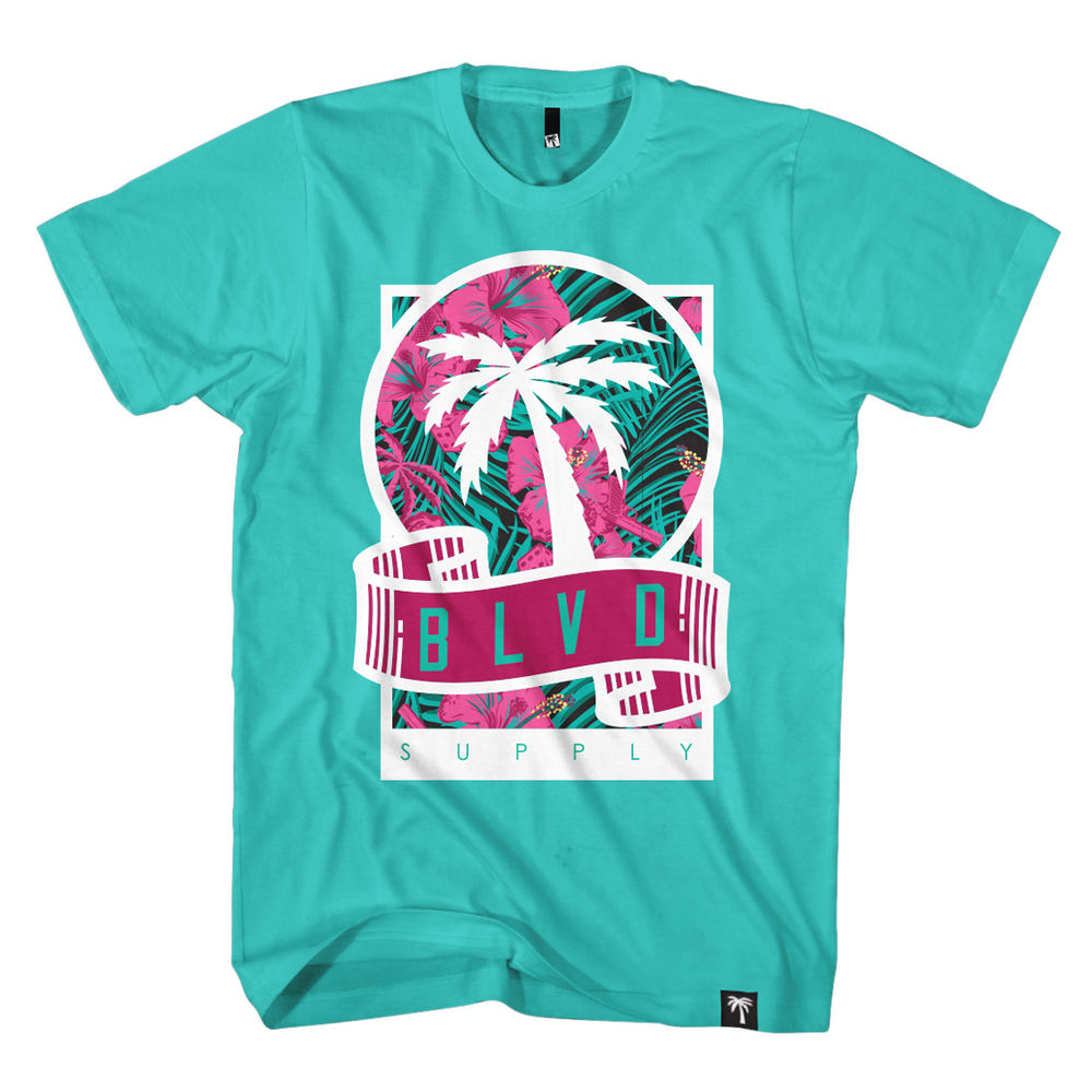 South Beach Scroll Tee - BLVD Supply inc