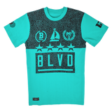 Blvd Supply Split Star Tee - BLVD Supply inc