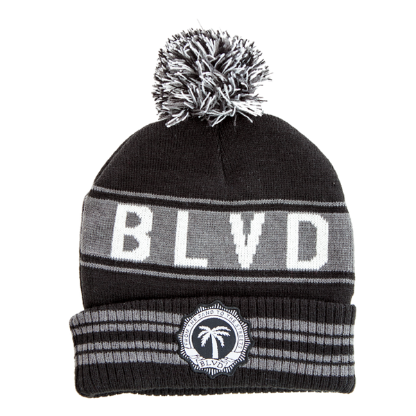 Crest Stripes Beanie - BLVD Supply inc