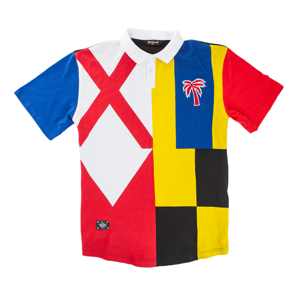 Flags Up Polo Shirt - BLVD Supply inc