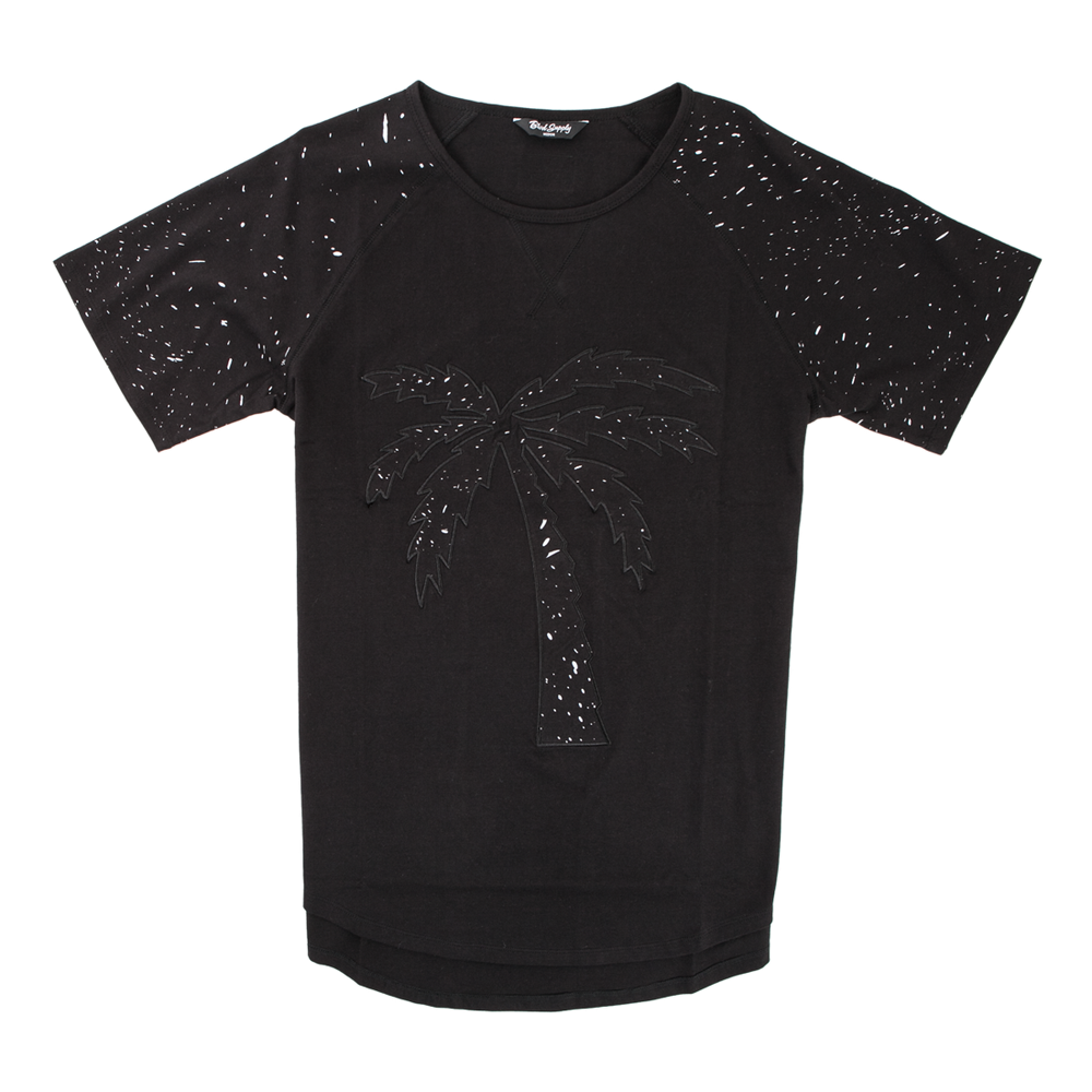 Tree Splatter Scalloped Tee - BLVD Supply inc