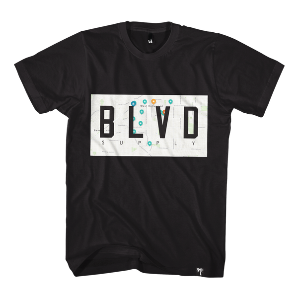 Map Out Tee - BLVD Supply inc