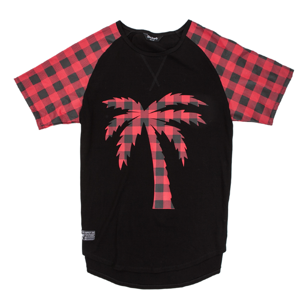 Tree Plaid Scalloped Tee - BLVD Supply inc