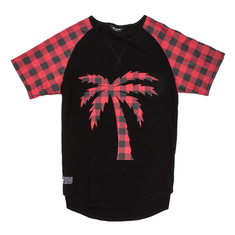 Blvd Supply Tree Plaid Scalloped Tee - BLVD Supply inc