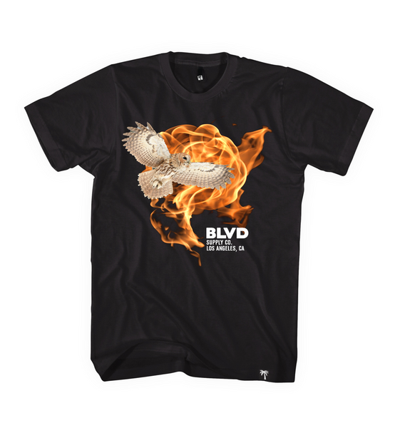 Owl Fire Tee - BLVD Supply inc