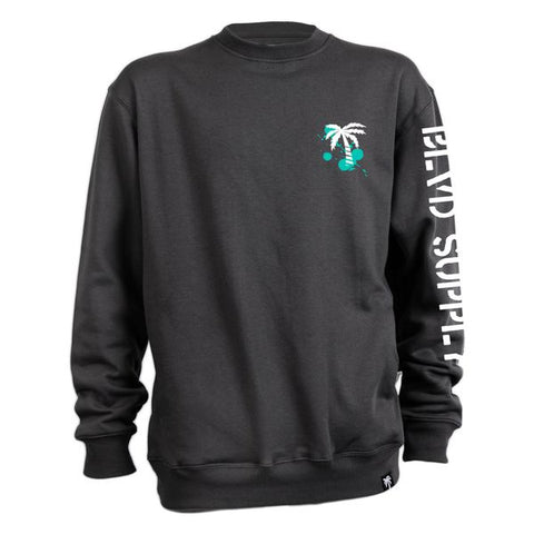 Labels Crew Neck Fleece - BLVD Supply inc