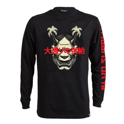 Hannya Long Sleeve Tee - BLVD Supply inc