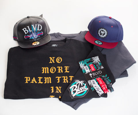 Swag Mini BLVD Box Long Sleeve - Over $100 worth of items - BLVD Supply inc