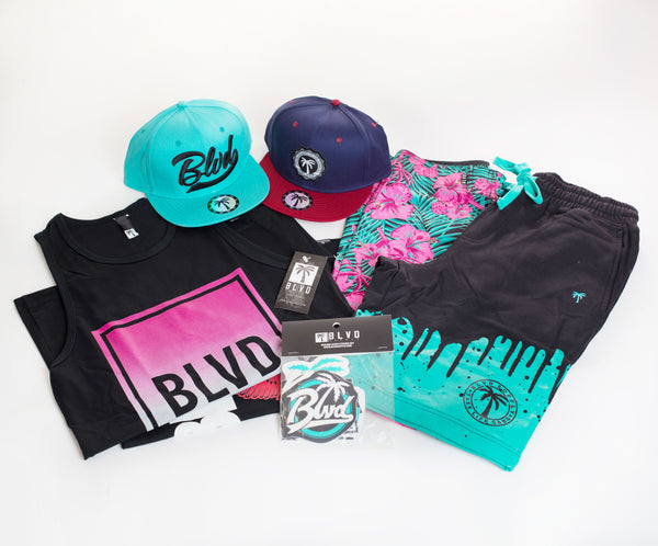 Swag BLVD Spring Break Box - Over $150 worth of items.