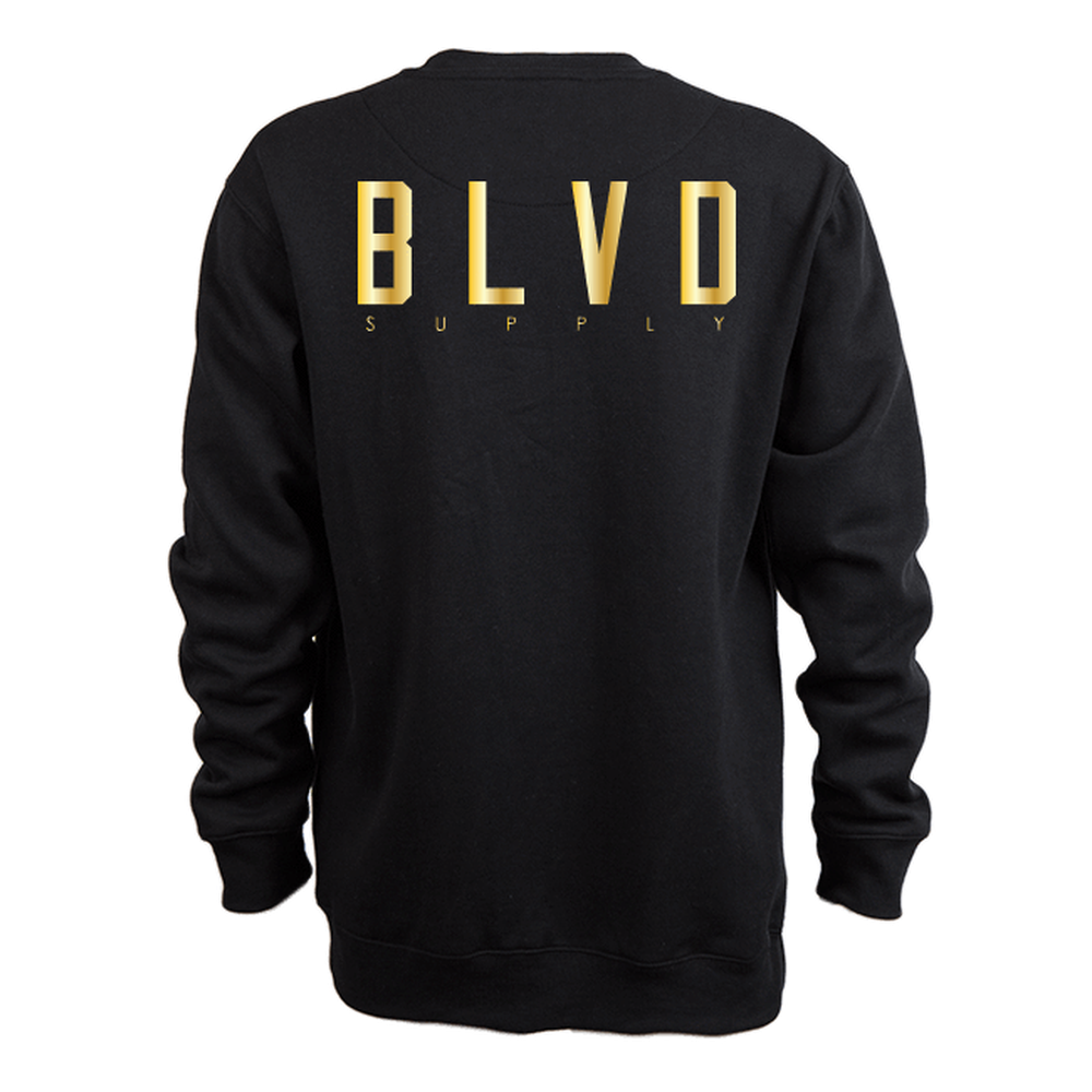 Blvd Supply Blocked Up B.Trills Crew Neck Fleece