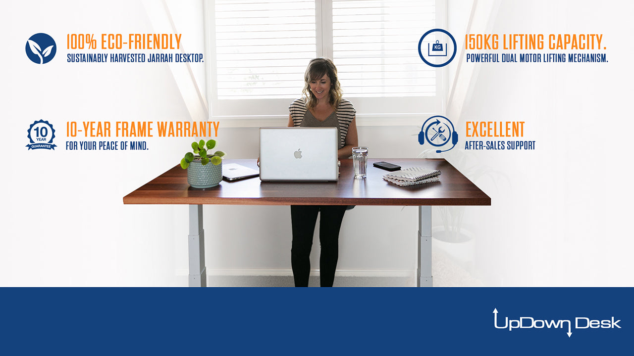 Features and Benefits of Jarrah Sit-Stand Desk