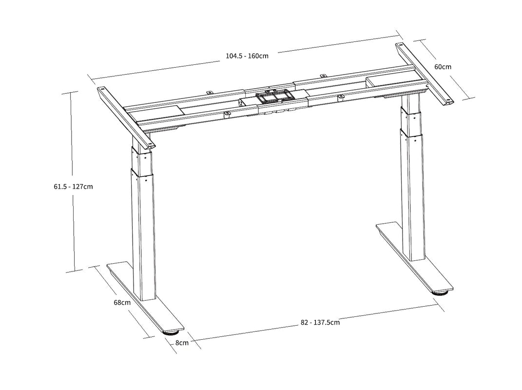 Standing Desk Frame Specifications