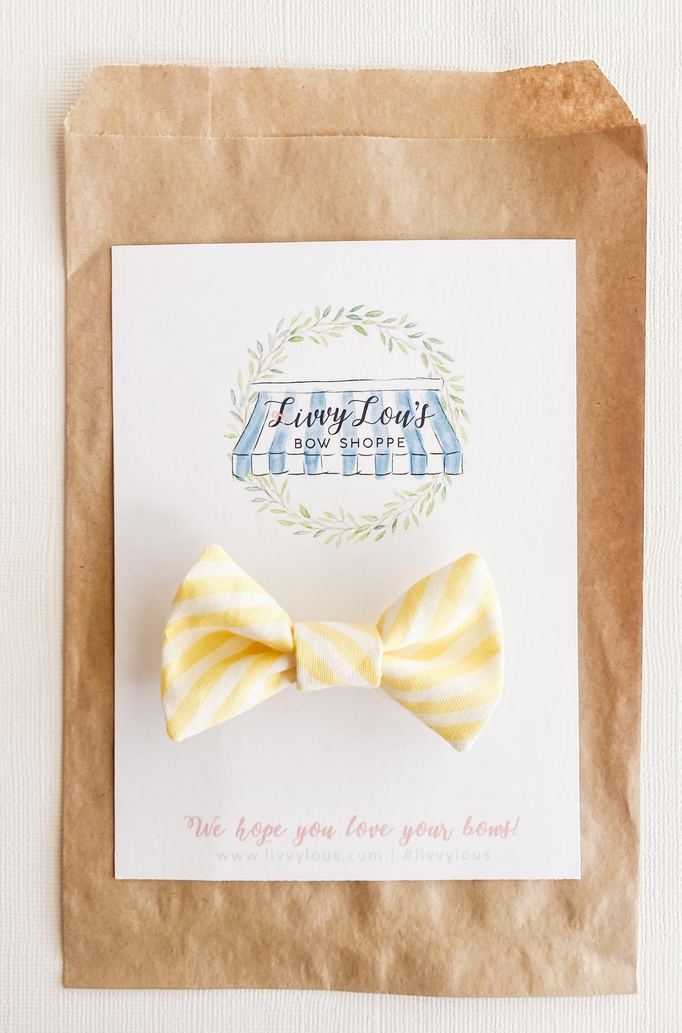 Lemon Stripes Infant Bow Tie