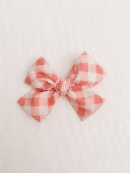 Coral Gingham Classic Livvy