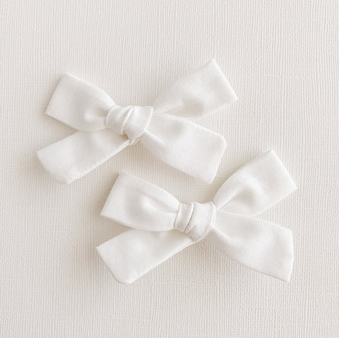 White Mini Livvy Pigtail Set