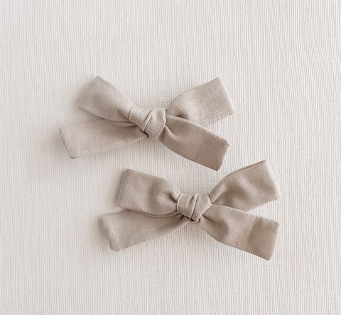Stone Gray Mini Livvy Pigtail Set