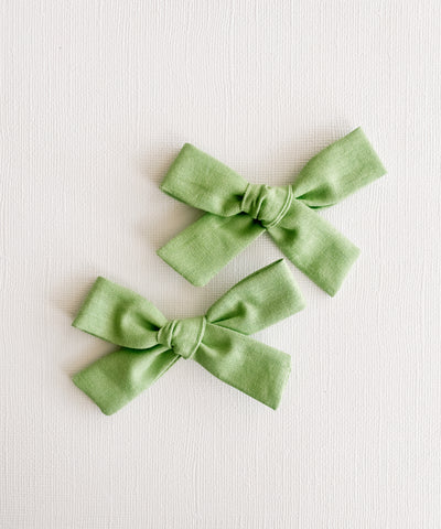 Spring Green Mini Livvy Pigtail Set