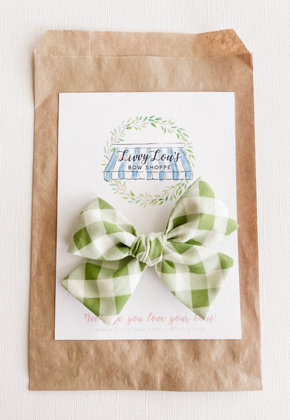 Spring Green Gingham Classic Livvy
