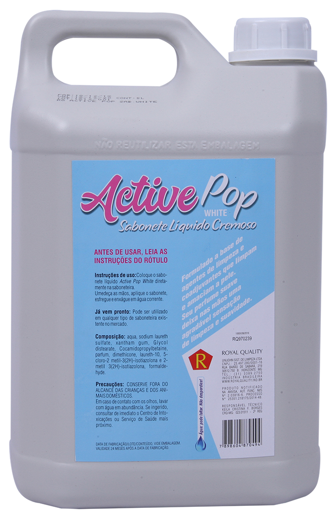 Sabonete Liquido Active Pop White 5 Litros