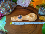 Amethyst Moon Premium Pipe Orange Pipe with Glow in the Dark Porcelain Smoking Pipe