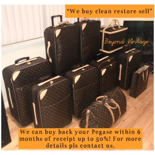 Louis Vuitton Pegase 70 Large Suitcase rolling Luggage.