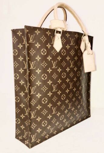Louis Vuitton Sac Plat NM Tote Bag w/ Dustbag Name Tag AUTHENTIC 💝