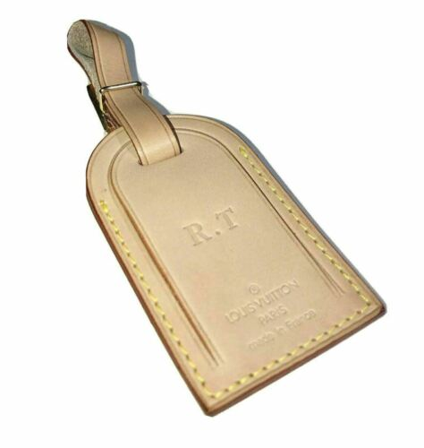 Louis Vuitton Name Tag Stamped Initials RT - 100% Authentic
