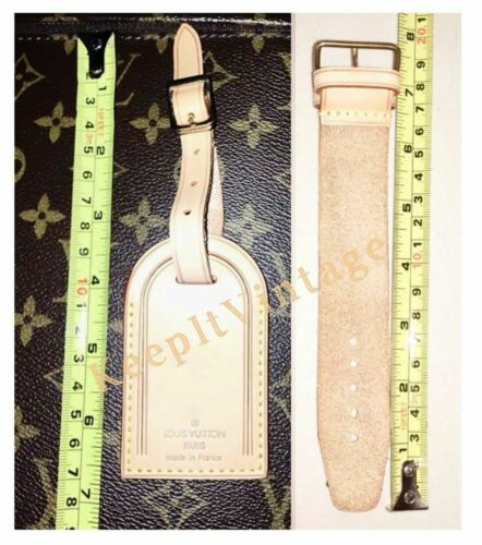 Louis Vuitton Name Tag TH Stamped Initials Large 100% Authentic UEC