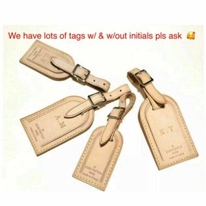 Louis Vuitton Name Tag Stamped Initials KT - 100% Authentic