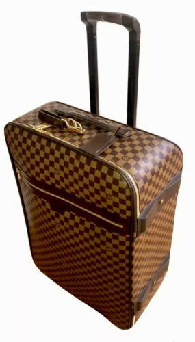 Louis Vuitton Pegase 65 Suitcase Damier Ebene Unisex w/ Garment Bag AUTHENTIC