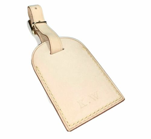 Louis Vuitton Name Tag - KW Hot Stamped Initials - 100% Authentic