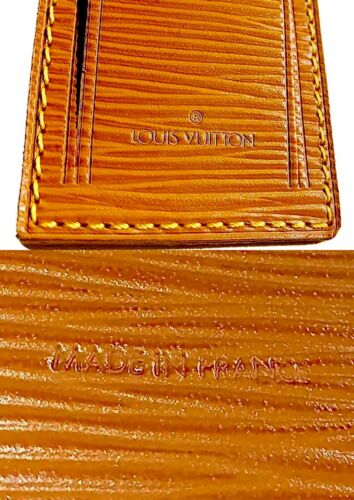 Louis Vuitton EPI Leather Name Tag For Keepall Bag AUTHENTIC! 🇫🇷