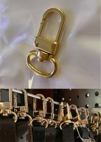 Name Tag Swivel Clasp Charm for Louis Vuitton Purse or Luggage Bag Golden Clip