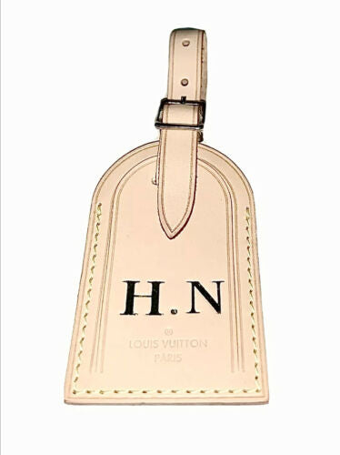 Louis Vuitton Name Tag - HN Stamped Initials - 100% Authentic