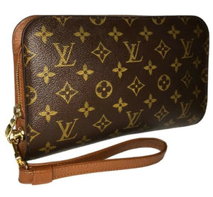 Louis Vuitton Orsay Classic Wristlet Bag w/ Strap Business Clutch AUTHENTIC 🎁