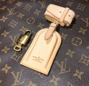 Louis Vuitton Name Tag w/ Strap Lock & Key One Set 💯% AUTHENTIC 💝