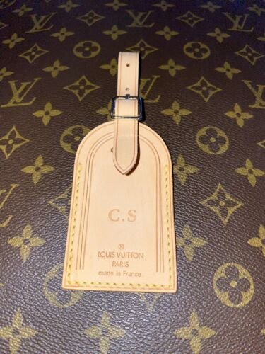 Louis Vuitton Name Tag CS Stamped Initials - 100% Authentic Luggage Tag