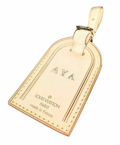 Louis Vuitton Name Tag Stamped Initials AYA - 100% Authentic