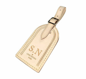 Louis Vuitton Name Tag - SN Heat stamped initials Large w/ Swivel Clasp