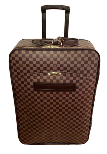 Louis Vuitton Pegase Suitcase Damier Ebene Unisex w/ Garment Bag AUTHENTIC