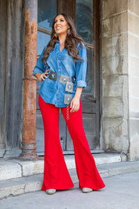High Waisted Flare Pant