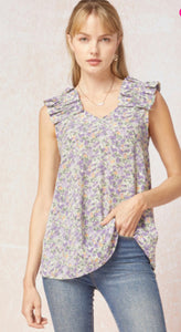 The Frilly Floral Tank