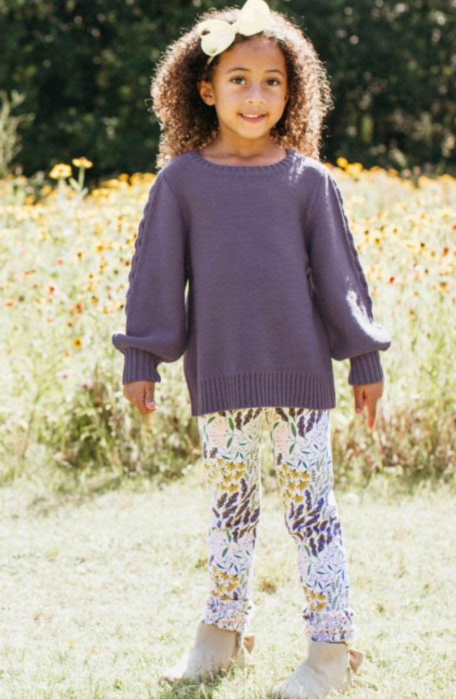 Shadow Purple Cable Sweater