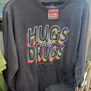 Hugs Not Drugs LS Tee
